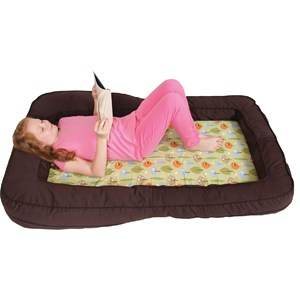 Leachco BumpZZZ Travel Bed, Brown/Green Forest Frolics